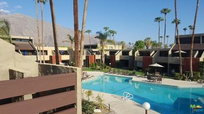 Photo for So Palm Springs Smoke Tree Condo overlooking Pool!