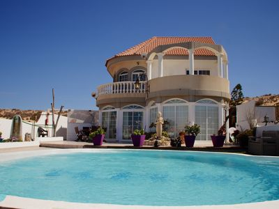 Photo for Villa with private pool, spacious terraces and 3 apartments, Privacy guaranteed.
