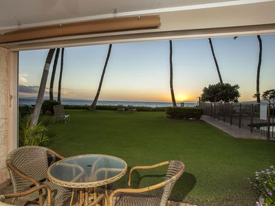 Photo for Stunning Beach Front 2 Bdrm Condo - Starting @ $264.00/night - Kihei Beach #102