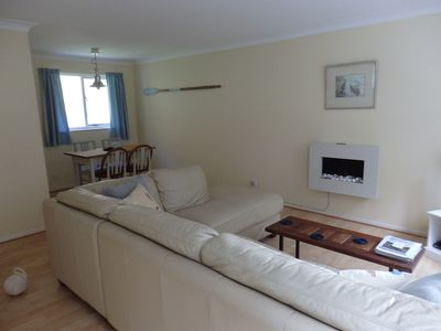 Photo for Spacious 1st Floor Apartment, Parking & Patio Garden, Quiet Area Close To River