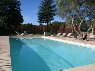 Photo for Provence Villa 9 people (+2 babies) with private heated pool 11x5m