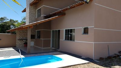 Photo for Two 2 bedroom w / pool, 4 bedrooms, barbecue and WIFI in Itapoa SC