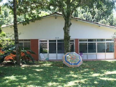 Photo for Paúba, Ground floor house in large garden, north coast, São Sebastião, 2 km from Maresi