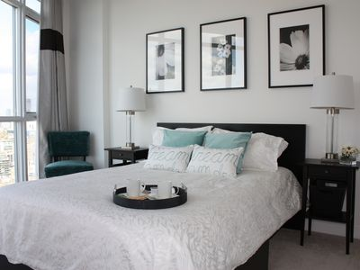 Photo for Luxurious, Modern and Clean 1BR Condo...Panoramic Views of the City and Lake