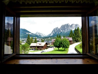 Photo for Apartment not far from Cortina center - 4 beds