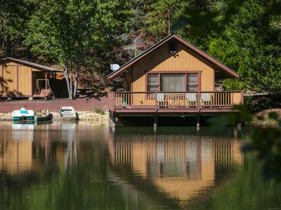 Photo for Who wouldn't fall in love with Knott's Landing? This adorable cabin is located on a small private la