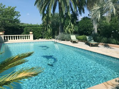 Photo for BEAUTIFUL VILLA SEA VIEW WITH LARGE SWIMMING POOL AND GARDEN IN ANTIBES