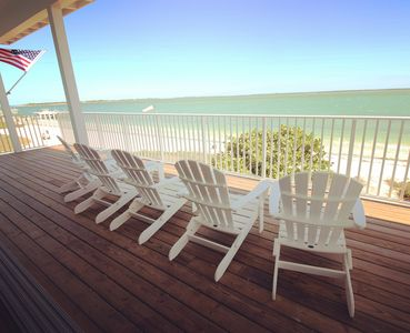 Wrap-around decks offer a perfect place to relax & watch local dolphins at play.