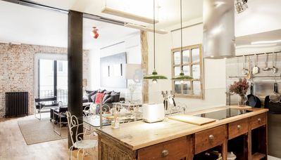 Photo for Be Apartment - Beautiful and elegant luxury apartment with a bohemian and chic decor. 2 bedrooms and 2 bathrooms. Located in the Malasaña district of Madrid full of local and terraces.