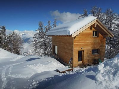 Photo for Bright chalet Tzoumaz - Verbier magnificent view on privileged environment