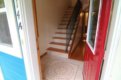 Tiled front entry.