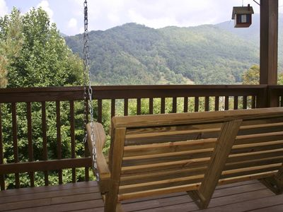 Photo for EZ Access - Upscale - Mountain View - Hot Tub - Fire pit - Fast Wifi - Fireplace