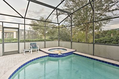 Enjoy community amenities, a private pool, hot tub and game room!