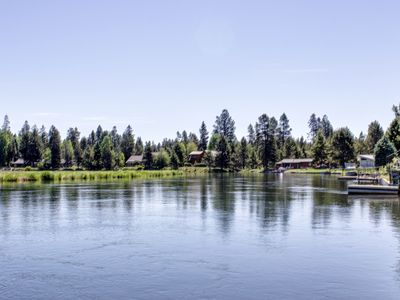 Photo for Wonderful home on the Deschutes river with a private dock!