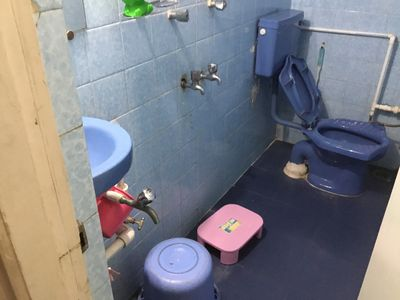 Bathroom with Anglo Indian toilet