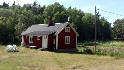 Photo for Cozy, typical Swedish cottage undisturbed in the middle of nature