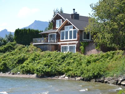View of the home from the Columbia River!