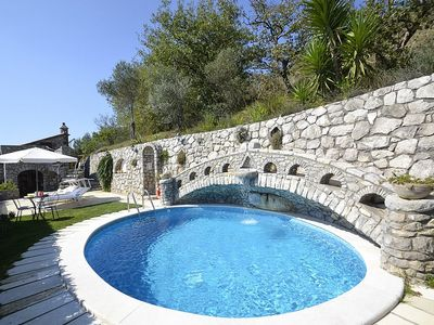 Photo for Villa Ingrid: A characteristic two-story villa located on a hillside, facing the sea.