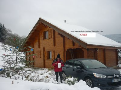 Photo for New chalet made in plank in the Massif of Plombieres in the Val d'Ajol
