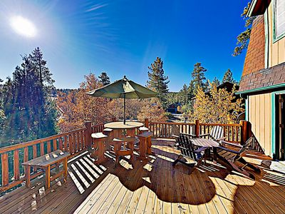 Backyard - There's plenty of seating for the whole crew on the back deck.