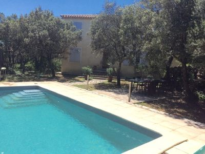Photo for Bastide of charm in the middle of the trees privative swimming pool gorges of the hérault