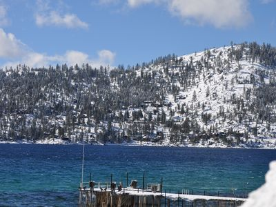 Photo for In The Heart Of Tahoe City!  Private Beach And Pool!  Walk Anywhere!