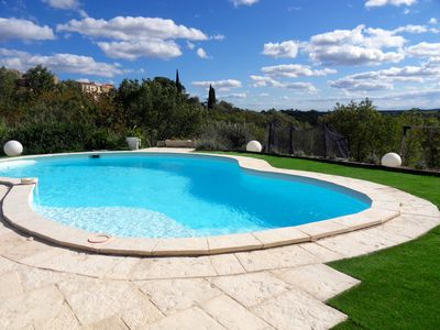 Photo for Superb and quiet villa for 6 people with pool and unobstructed view