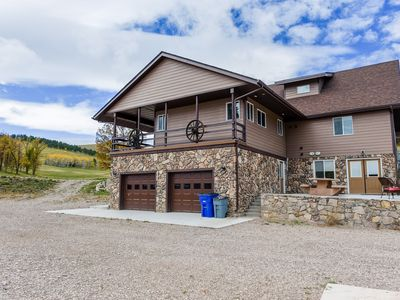 Photo for Exquisite 4BR Sanctuary on 8 Acres w/ Hot Tub - 1 Mile from Deadwood
