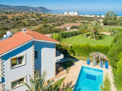 Photo for Villa Alexandros: Large Private Pool, Walk to Beach, Sea Views, A/C, WiFi, Car Not Required