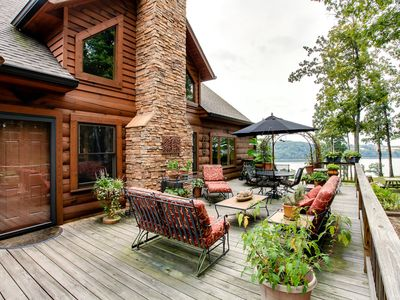 Photo for BassMasters Paradise! Rustic Elegant Kentucky Lake View Home
