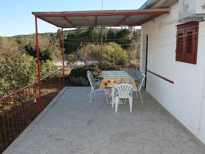 Photo for Three bedroom apartment with terrace and sea view Povlja (Brač)