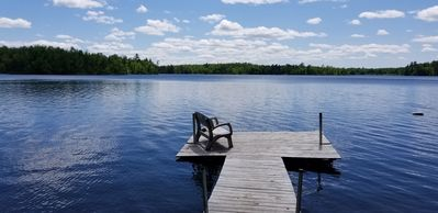 Photo for NEW 2BR Camper on a secluded, crystal clear lake. Great views, steps to lake!