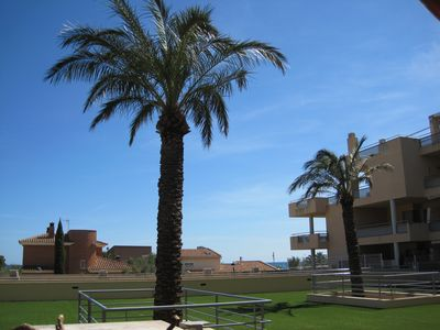 Photo for APARTMENT WITH TERRACE AND DIRECT ACCESS TO SWIMMING POOLS AND NEAR THE BEACH