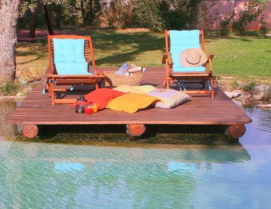 Swimming pool with relaxing deck