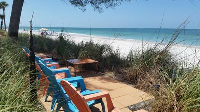 Photo for Awesome direct Gulf front  1 Bedroom  With large private ground floor  Patio