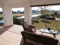Lovely corner balcony with golf course views