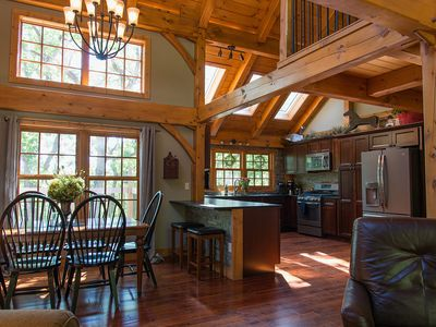 Photo for Persimmon Hollow - Custom Post & Beam Beauty on 40 Acres Game Room Hot Tub