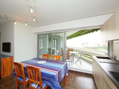 Photo for One bedroom Apartment, sleeps 4 in Canet-Plage with Air Con and WiFi