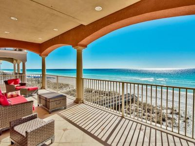 Photo for Camelot | 5br Beach Front Luxury Home | Heated Pool & Spa | Elevator | Destiny