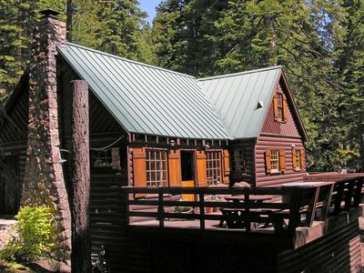 Photo for Step Back in Time: Gorgeous Classic Tahoe Log Cabin Near Lake Tahoe