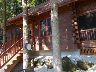 Photo for Secluded log cabin in a heavily forested area