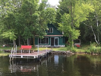 Photo for Cozy Lakefront Cabin w/ canoe, hammock, fire-pit & grill! Perfect group getaway