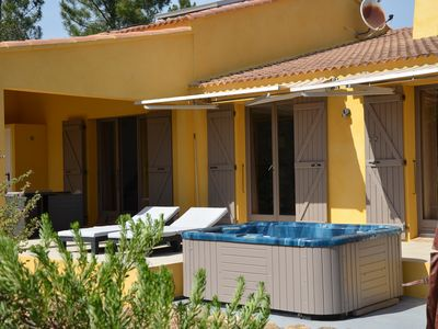 Photo for spacious villa, quiet and in the countryside, 4 km from the beach of saint cyprien
