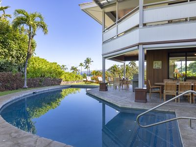 Photo for Roomy ocean view home with private pool, short walk to beach