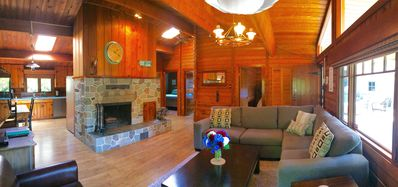 Photo for Cozy cabin at Cultus Lake steps from the lake!