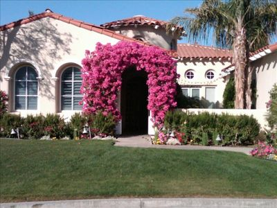 Lovely Spanish style with gated entry and courtyard.