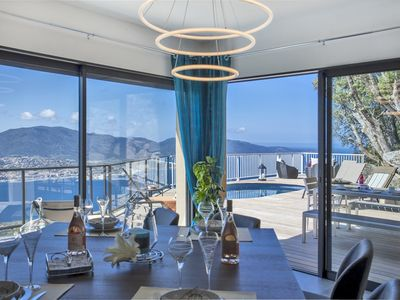Photo for Exceptional villa between sky and sea