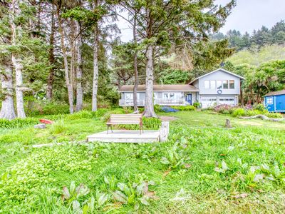Photo for Cozy home w/ ocean view, private hot tub & entertainment!