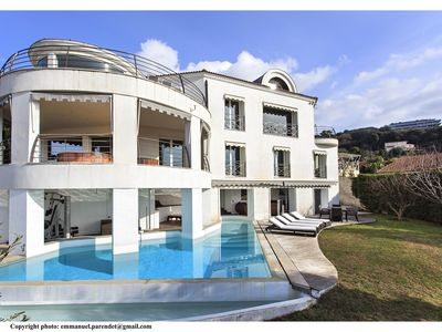 Photo for Luxurious sea view architect villa with pool