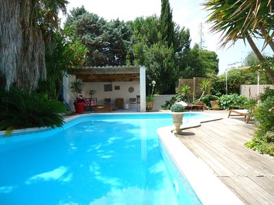 Photo for BEAUTIFUL CONTEMPORARY VILLA WITH SWIMMING POOL CLOSE TO MEDITERRANEAN BEACHES
